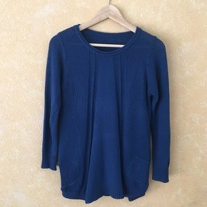 Sweaters - Blue Soft Knit Sweater